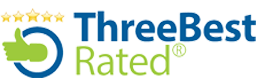three rated best logo